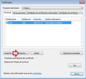 exporatr certificado IE