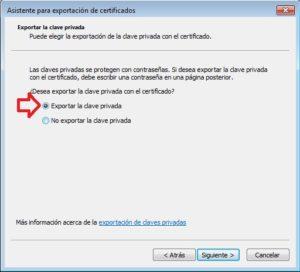 exportar clave privada
