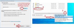 seleccionar archivo certificado