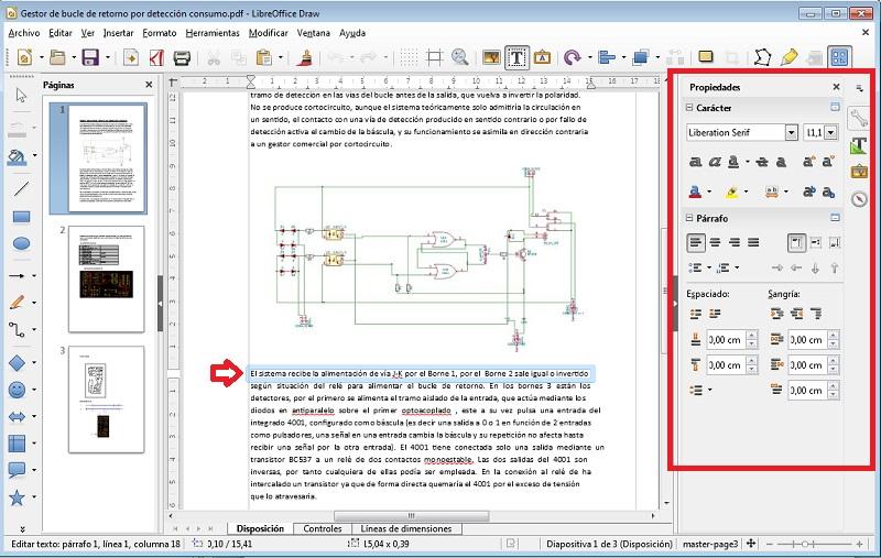 Draw de LibreOffice Editar archivos PDF