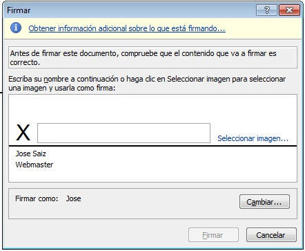 Dialogo firma digital Word