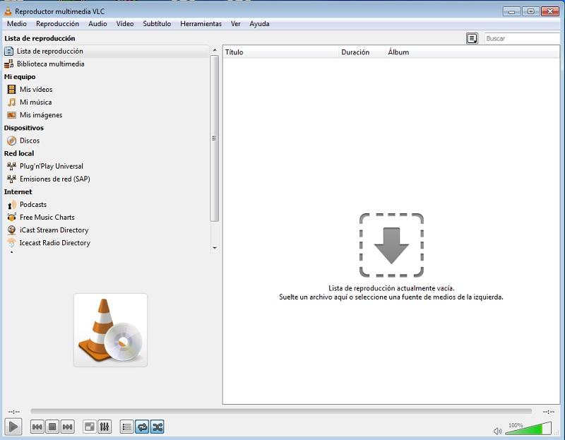 Aplicación VLC
