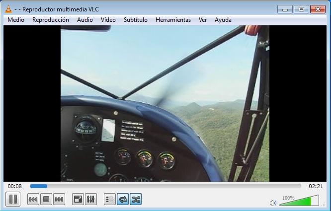 Reproducción vídeo con VLC