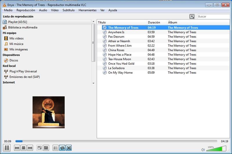 Reproducción audio VLC
