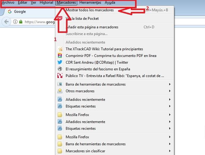 Marcadores de Firefox