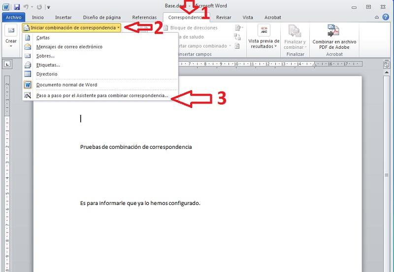 Combinar correspondencia 1