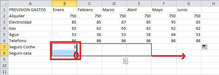 excel introducir datos