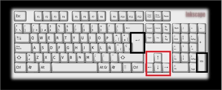 teclado intro y desplazamientos