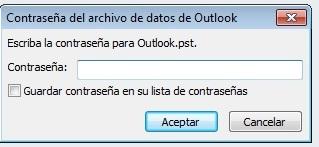 Outlook con contraseña