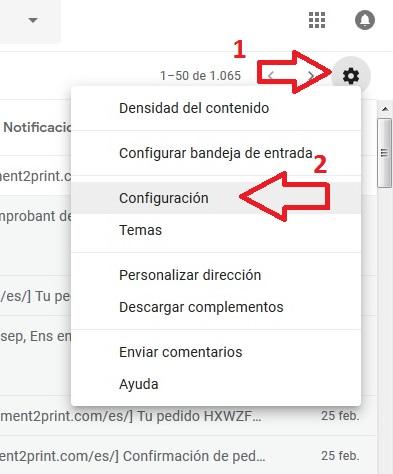 Acceso configuracion POP