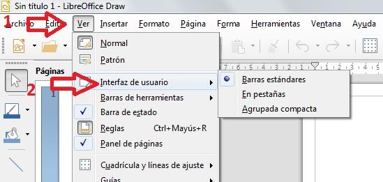 Menu interfaz usuario Draw