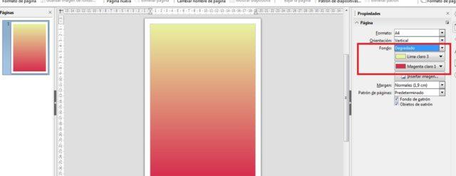 propiedad fondo colores degradado draw