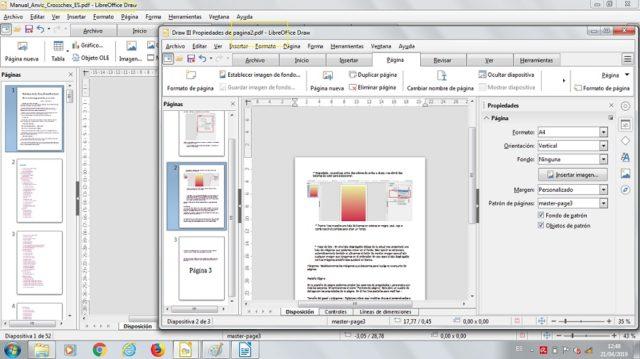 draw páginas combinar en pdf