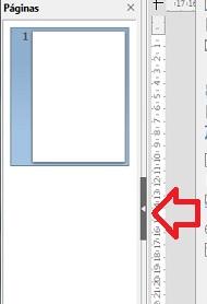 ocultar panel páginas