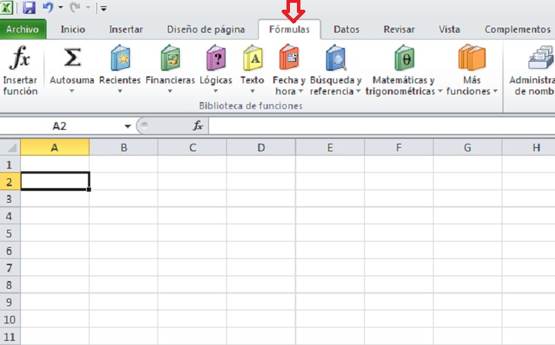 barra herramientas funciones