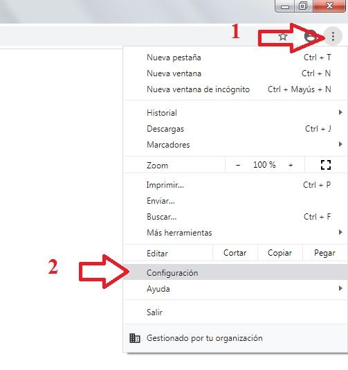 Chrome configuración