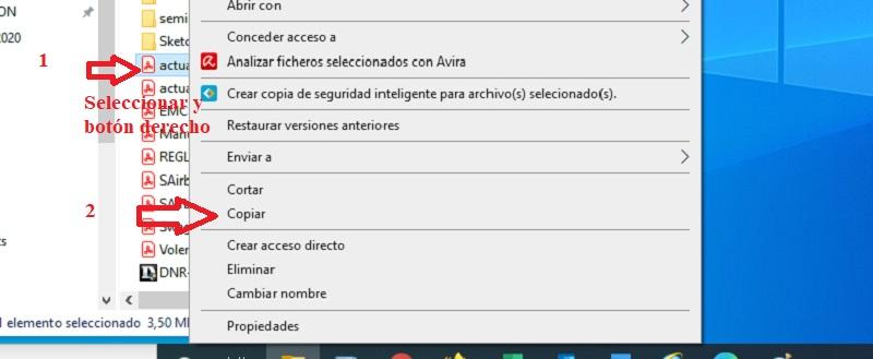 accesos directos copiar