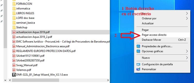 copiar accesos directos