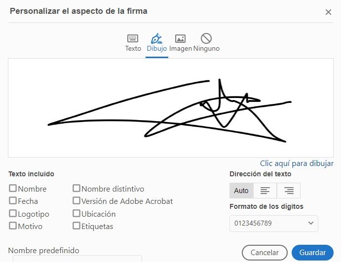 firma personalizada