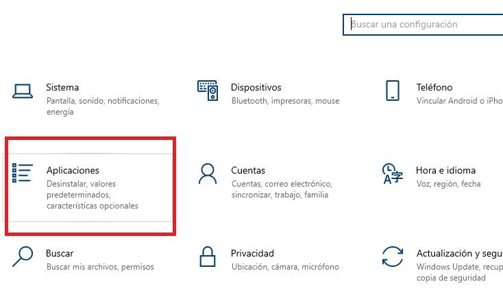 menu aplicaciones