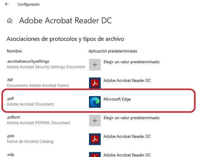 aplicaciones predeterminadas por aplicacion edge